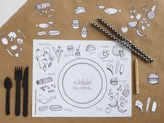 Free Printable Placemat by La maison de Loulou-1