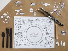 Free Printable Coloring Placemats