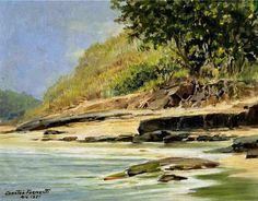 Beira-rio, 1951 Gastão Formenti (Brasil, 1894-1974) óleo sobre madeira, 27 x 35 cm