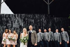Image by Samuel Docker Photography - Charlie Brear Gown & Valentino Rockstud Heels For A Stylish Wedding At Cripps Stone Barn With Neutral Pared Back Decor and Images By Samuel Docker Photography