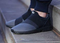 Adidas ZX Flux Slip On 'Granite' post image Adidas Slip On Shoes, Addidas Shoes Mens, Kicks Shoes, Adidas Shoes Women, Mens Fashion Shoes, Sneakers Fashion, Burgundy Shoes Men, Casual Sneakers, Casual Shoes