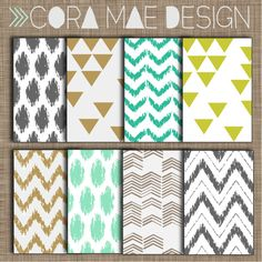 free ikat digital papers & iphone wallpapers