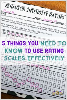 5 things you need to know to use rating scales effectively in your classroom. A rating scale for severity of behavior Behavior Sheet, Behavior Plans, Behavior Charts, Special Education Behavior, Classroom Behavior, Classroom Ideas, Autism Classroom, Future Classroom, Classroom Organization