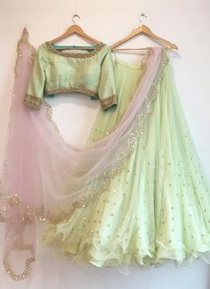 Pista green color desiger butterfly net lehenga choli with readymade work blouse for women, indian lehenga, bridal lehenga, lengha choli, Indian Lehenga, Green Lehenga, Net Lehenga, Bridal Lehenga, Floral Lehenga, Anarkali, Lehenga Choli Designs, Indian Wedding Outfits, Indian Outfits