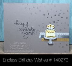 Masculine Endless Birthday Wishes by Stampin' Up! Hurry fast, this one is retiring soon! Closet Stampin' with Jayme Ziemer. www.closetstampin.com