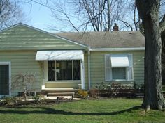 White awnings for porch and windows by Fairview Home Improvement in Ohio  | Curb Appeal | Home decor | Ranch House