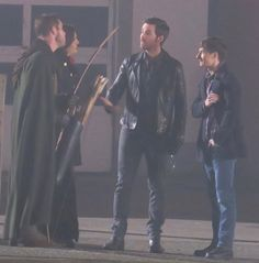 """Sean, Jared, Colin and Lana - 6 * 11 """"Murder Most Foul"""" - Behind the scenes - 2 November 2016"""