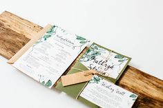 Lauren Dillon Designs www.laurendillondesigns.com.au Wedding invitations. Greenery wedding invitations. Pocket invitations. Vines. Rustic wedding invitation greenery invitation