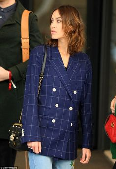 Fashionista: Alexa Chung, 33, put on a typically trendy display as she stepped out in Milan on Wednesday for the city's annual fall/winter 2017 Fashion Week