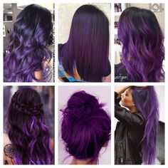 Neues Haar hebt lila hervor, ich will Ideen New hair highlights purple, I want ideas Dark Purple Hair, Hair Color Purple, Hair Color And Cut, Purple Hair Highlights, Purple Hues, Violet Hair Colors, Purple Balayage, Cute Hair Colors, Hair Dye Colors