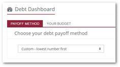 Using Custom Debt Snowball Payoff Methods