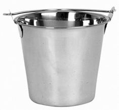 $25.00-$31.00 This high-quality commercial grade utility bucket/pail is more durable than the average steel buckets/pails that are welded with a separate steel base or side-seam. Constructed of one piece solid 8mm thick stainless steel (w/no welded bottom or side seam that ensures long-term use with no leakage) this sturdy bucket/pail is seamless, resistant to dents, corrosion and tarnishing.The ...