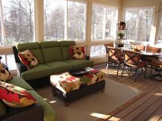 I Really Like The Use Of Color And Light In This Room Too Many Rooms Back Porchesscreened Porchthree Season Porchfurniture Ideasbedroom