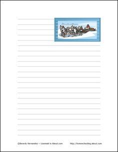 Iditarod Printables: Iditarod Theme Paper