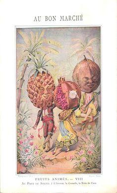 1 metamorphic card anthropomorphic animated fruit veggie people metamorphic nr 8 #AuBonMarch