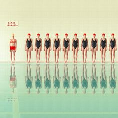 I love the retro, sterile, futuristic, bright (and also somehow dull) look of these swimming pool photos by Maria Svarbova.