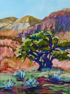 "Lone Piñon 14x11"" Oil on gallery wrap canvas ©2014 Lucinda Howe"