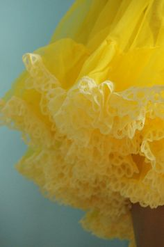 Yellow vintage full circle net petticoat lingerie Medium. £42.00, via Etsy.