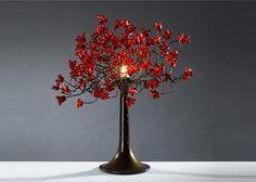 Table light Red flowers by Flowersinlight on Etsy, $149.00