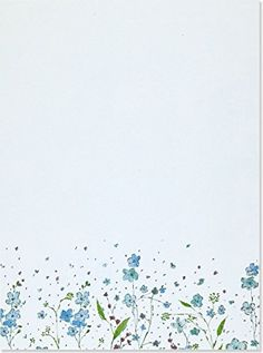 Blue Flowers (Letter-Perfect Stationery) by Peter Pauper Staff