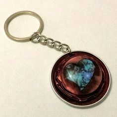 Saint valentin porte-clef ou bijou de sac en capsule de café nespresso de couleur