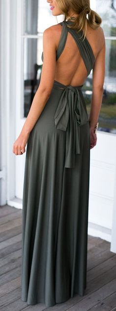 Olive jersey maxi