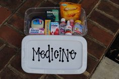 Kids in college are bound to catch something at some point, and without mom to nurse them back to health, they're going to need this  medicine box  from  Bolling With 5 .