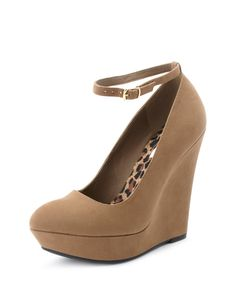 Removable Ankle-Strap Wedge