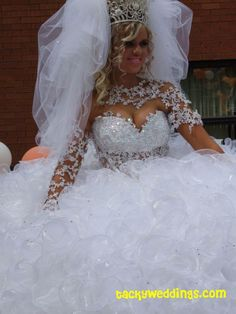you're already the center of attention on your wedding day, one need not go to such extreme measures