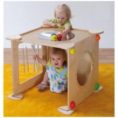 """Erzi """"Games in the Room"""" challenge a child's kinetic skills and sense of colour. This is the Baby Box Concerto, a real soundbox with sound pipes, humming guita Toddler Fun, Toddler Gifts, Toddler Toys, Kids Toys, Montessori Toddler, Montessori Toys, Latch Board, Busy Board, Baby Box"""