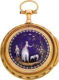 Gregson Paris Exceptional Gold & Enamel Verge Fusee,   Lot #60174   Heritage Auctions