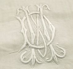 Antique French Pure Fine Linen Sheet MD Monogram Larger Than King Size Bed Cover | eBay