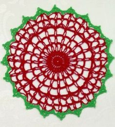 This pretty doily's so easy you'll want to hook one for yourself and more for all of the folks on your Christmas list!