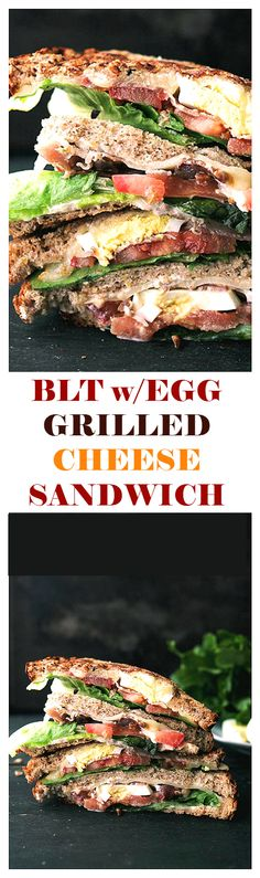 This BLT Grilled Cheese Sandwich recipe has a creamy texture that is SO GOOD, it will become your new favorite sandiwch! It's melt-in-your-mouth delicious!