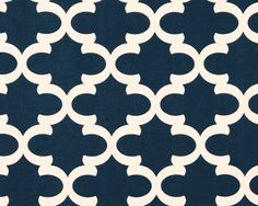 4 yards Fynn Blue Cadet Macon Fabric - Premier Prints Lattice Moroccan Ogee  -  Home Decor - Cadet Blue Print on Soft White on Etsy, $37.00