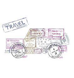 Passport stamps vector - by bioraven on VectorStock®