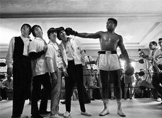 "Charles Trainor | The Beatles and ""The Greatest"", Cassius Clay (Muhammad Ali)  in the Ring, 1964"