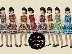 [SIMSTAILORED] Indonesian Batik Dress Child