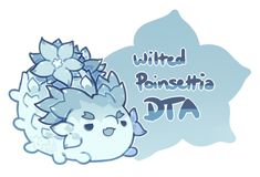 Wilted Poinsettia by toripng on DeviantArt Cute Animal Drawings Kawaii, Kawaii Drawings, Kawaii Art, Cute Drawings, Fantasy Creatures, Mythical Creatures, Pet Monsters, Devian Art, Cute Pokemon Wallpaper