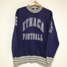 ITHACA BOMBERS PRINTED SWEAT SHIRT Size: L