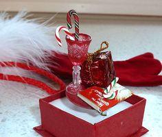 Kawaii Ring  Miniature Night before by OishisoBitsAndBites on Etsy, $14.00