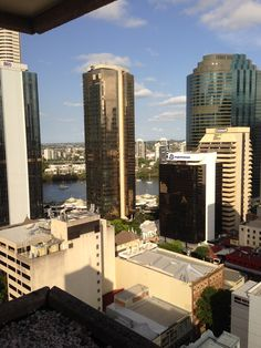 Room View from the Hilton Brisbane Hotel Brisbane, San Francisco Skyline, Places Ive Been, New York Skyline, Australia, Room, Travel, Bedroom, Viajes