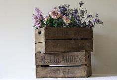 vintage wooden rustic crate