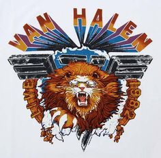 """most iconic van halen logo. definitely think this one would be cool. replace van halen with Delta Idol and """"1982"""" with 2016"""