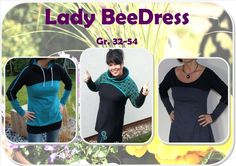 Nähanleitungen Mode - Ebook Lady BeeDress Gr. 32 - Gr. 54 - ein Designerstück von BeeKiddi bei DaWanda