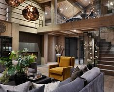 23stue_ver02 Modern Cabin Interior, Modern Rustic Homes, Himalaya, Home Technology, Cabin Interiors, Indoor Outdoor Living, House In The Woods, Luxury Homes, Wood Homes