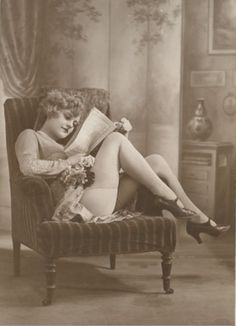 vintage boudoir 1910 intelligence is sexy