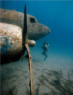 Diving on a C-47 wreck