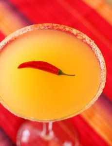 Red Chile Martini- we just inherited some home-cannedd hot chiles-going to try this soon! Maybe even infuse with them-ooooo....