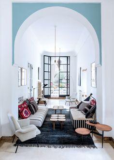 19 Modern Moroccan Decor Ideas - Home Decor Decor Inspiration, Interior Design, Home, Modern Moroccan Decor, Moroccan Living Room, Interior, Living Room Decor, Home And Living, Eclectic Modern